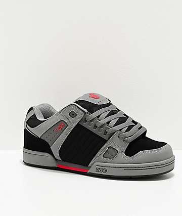 DVS Celsius Charcoal, Black & Red Skate Shoes