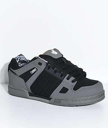 DVS Celsius Deegan Black & Grey Nubuck Skate Shoes