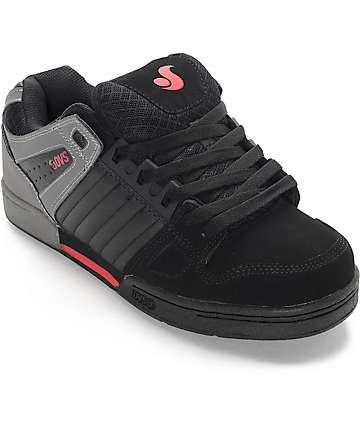 DVS Celsius zapatos de skate en negro, gris y rojo
