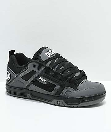 DVS Comanche Black & Charcoal Nubuck Skate Shoes