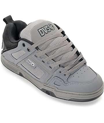 DVS Comanche Grey, Black & White Skate Shoes