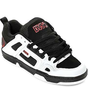 DVS Comanche zapatos de skate en blanco, negro y rojo