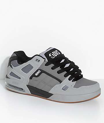 DVS Drone Charcoal & Grey Leather Skate Shoes
