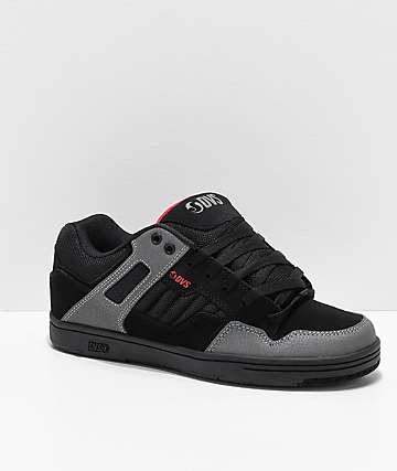 DVS Enduro 125 Black, Charcoal & Red Skate Shoes