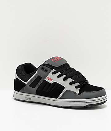 DVS Enduro 125 Black, Grey & Red Skate Shoes