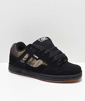 DVS Enduro 125 Black, Gum and Camo Nubuck Skate Shoes