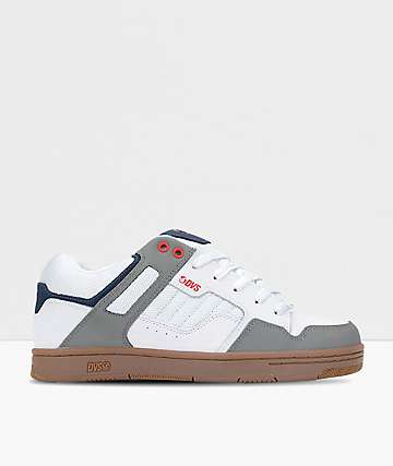 DVS Enduro 125 Whit, Grey & Blue Nubuck Skate Shoes