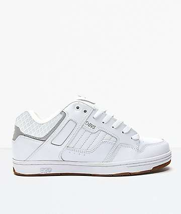 DVS Enduro 125 White & Gum Nubuck Skate Shoes