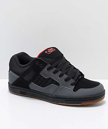 DVS Enduro 125 zapatos de skate de nubuck en gris y negro