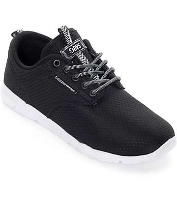 DVS Kids Premier 2.0 Black & White Mesh Shoes