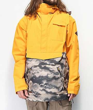 Dakine Clark Gold & Camo Anorak 10K Snowboard Jacket