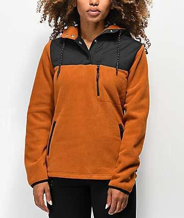 Dakine Parker Ginger & Black Novelty Fleece Hoodie