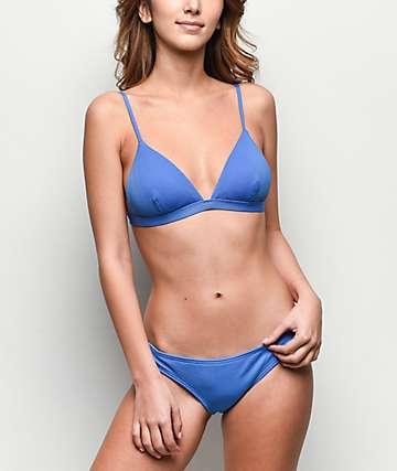 6587da031d5e5 Damsel Forget Me Not Blue Pique Cheeky Bikini Bottom
