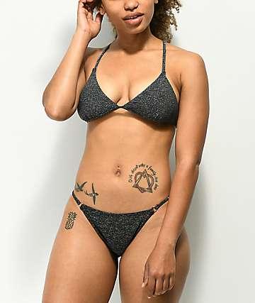 Damsel Grey Glitter Lurex Super Cheeky Bikini Bottom
