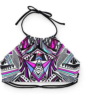 Damsel Hong Kong Tribal High Neck Bikini Top