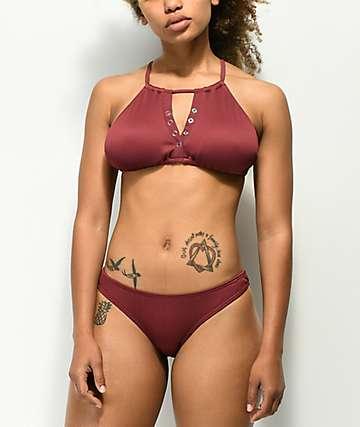 Damsel Mahogany Cheeky Bikini Bottom
