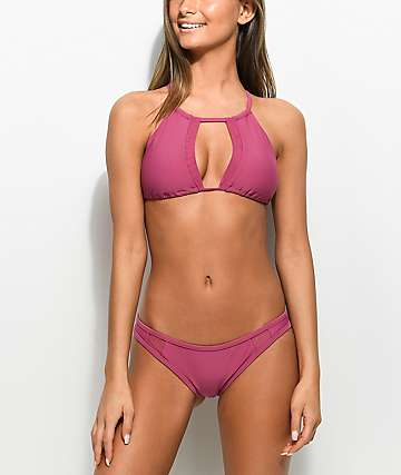 Damsel Mesh Side 2.0 Taro Super Cheeky Bikini Bottom