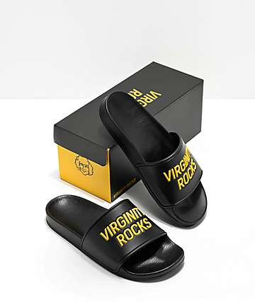 Danny Duncan Virginity Rocks Black Slide Sandals