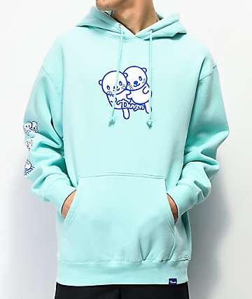 Danson Osaka Otter Mint Blue Hoodie