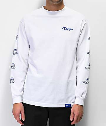 Danson Otter Love White Long Sleeve T-Shirt