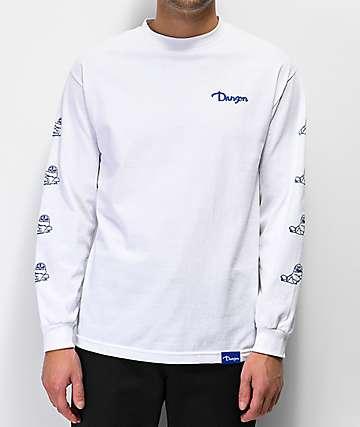 Danson Otter Love White Long Sleeve T-Shirt