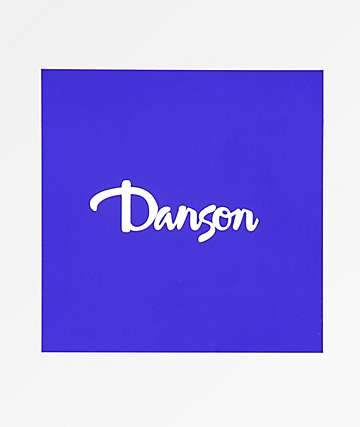 Danson Script Blue and White Sticker
