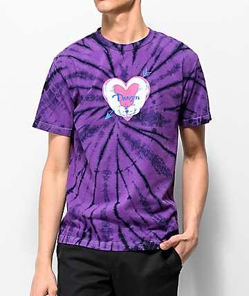 Danson Significant Otter Purple Tie Dye T-Shirt