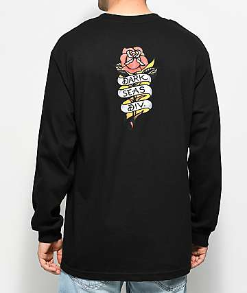 Dark Seas Amor Black Long Sleeve T-Shirt