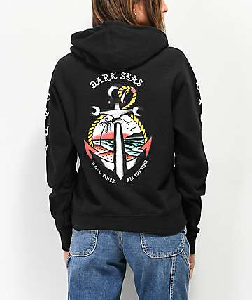 Dark Seas Avalon Black Hoodie