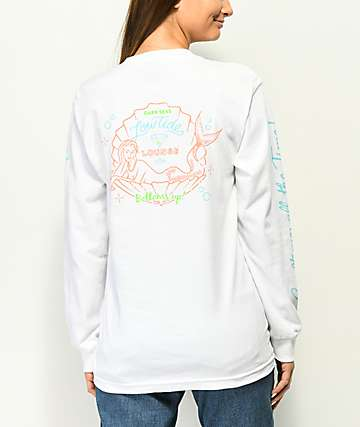 Dark Seas Bottoms Up White Long Sleeve T-Shirt