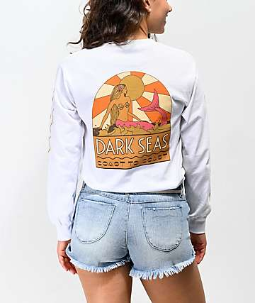 Dark Seas Coast to Coast White Long Sleeve T-Shirt