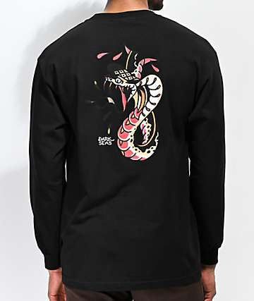 Dark Seas Cobra Black Long Sleeve T-Shirt