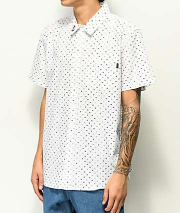 Dark Seas Cocobana White Short Sleeve Button Up Shirt