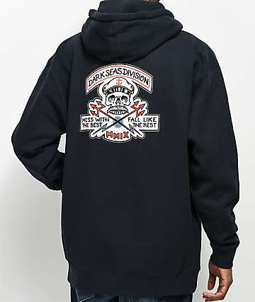 Dark Seas Cut Above Navy Hoodie