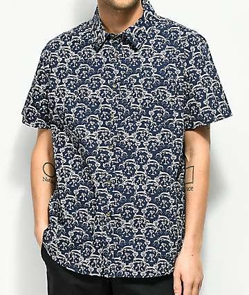 Dark Seas Cutty camisa de manga corta en azul marino