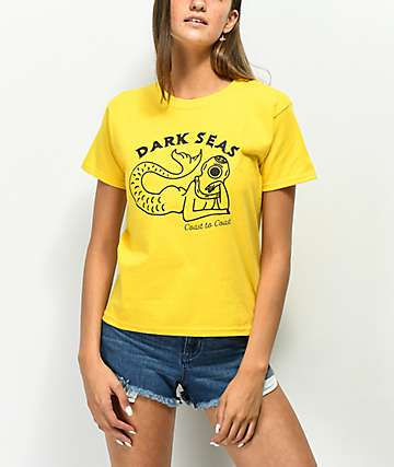 Dark Seas Divers Club Yellow T-Shirt