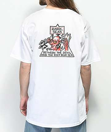 Dark Seas Fire Water White T-Shirt