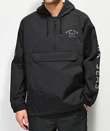 Dark Seas Foul Weather chaqueta anorak negra reflectante