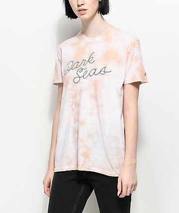 Dark Seas Header camiseta en color malva con efecto tie dye