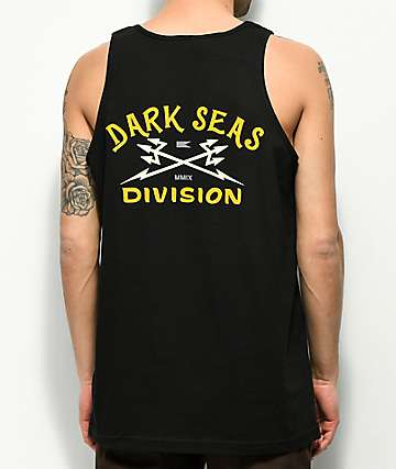 Dark Seas Headmaster Tuki Black & Gold Tank Top