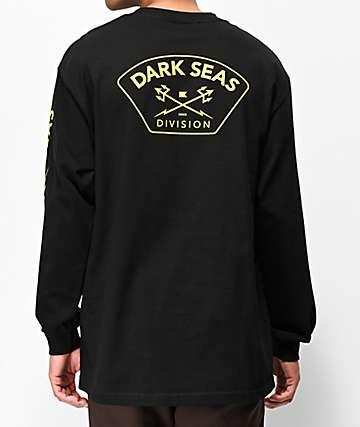 Dark Seas High Vision Black Long Sleeve T-Shirt