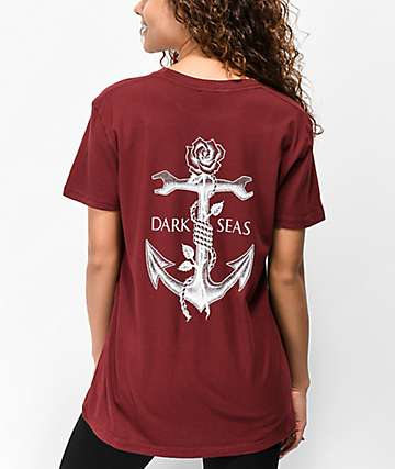 Dark Seas Lost Love Burgundy T-Shirt