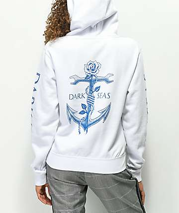 Dark Seas Lost Love White Hoodie