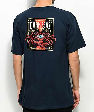 Dark Seas Masonic Crab II Navy T-Shirt