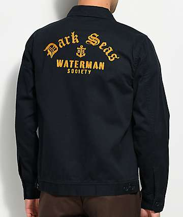 Dark Seas Middles Dark Navy Gas Station Jacket
