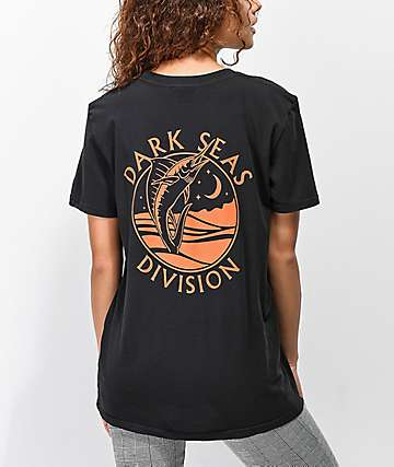 Dark Seas Night Jewel Black T-Shirt