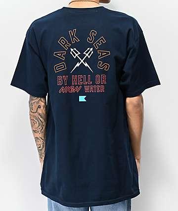 2bf16266174ea Dark Seas Quartermaster Navy T-Shirt