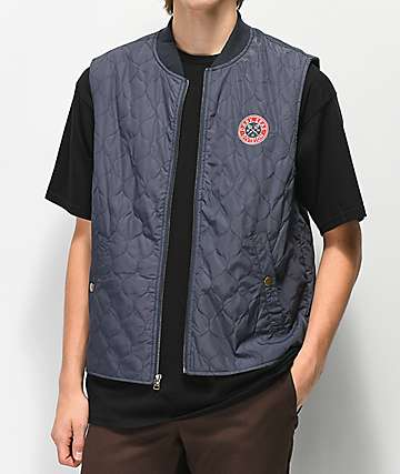 Dark Seas Ramon II Navy Puffer Vest