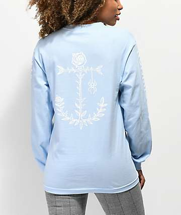 Dark Seas Save Me Light Blue Long Sleeve T-Shirt
