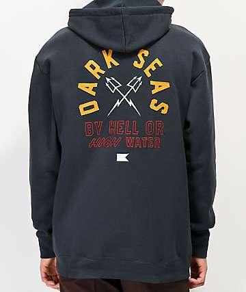 Dark Seas Starwood Navy Hoodie